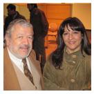 Prof. Sra. Mónica Troncoso S., Directora de Extensión – Fac. de Medicina y el Dr. Raúl González, Decano Fac. de Medicina..